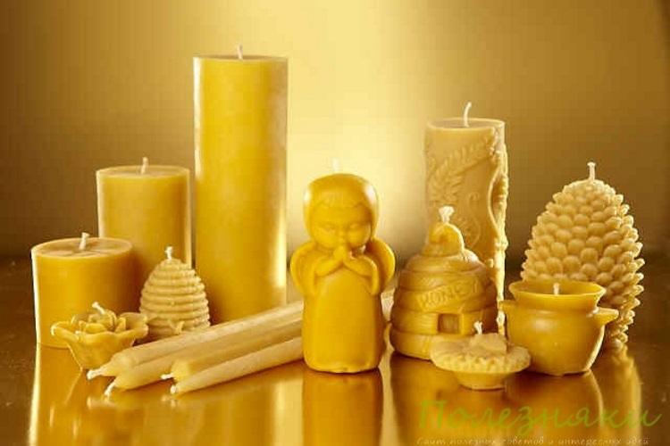 свечи из натурального пчелиного воска и парафиновые свечи
