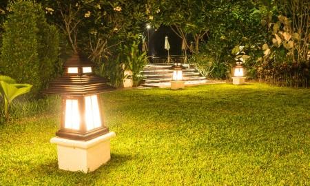 эстетическое садовое освещение