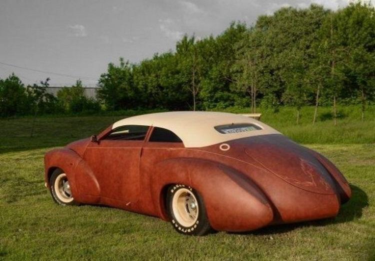уникальный автомобиль из кожи бизона и меха норки